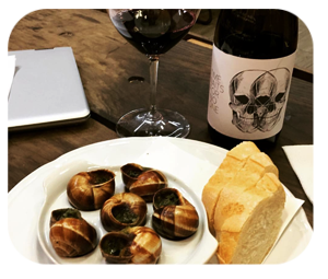 escargot wine